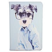 애플 ipad mini1 2 3/4 케이스 커버 스탠드 플립 패턴 전신 케이스 강아지 하드 pu 가죽
