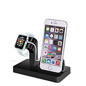 Soporte del reloj del gbu para la serie del reloj de la manzana 1 2 ipad iphone 7 6 6s más el soporte del metal 5s 5c todo-en-1 el cable