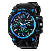 SKMEI Herre Sportsklokke / Digital Watch Alarm / Kalender / Kul Silikon Band Svart / To år / Maxell626 + 2025