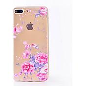 Funda Para Apple iPhone X iPhone 8 Transparente Diseños Funda Trasera Flor Suave TPU para iPhone X iPhone 8 Plus iPhone 8 iPhone 7 Plus