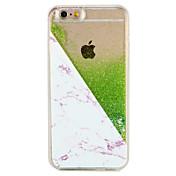 Etui Til Apple iPhone 7 Plus iPhone 7 Flommende væske Mønster Bakdeksel Marmor Glimtende Glitter Hard PC til iPhone 7 Plus iPhone 7