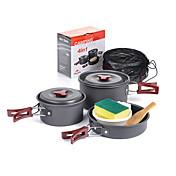 Naturehike Batería de cocina para camping Juegos Portátil Aluminio para Camping Picnic Acampada y senderismo