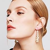 Mujer Pendientes colgantes Europeo Perla Perla Artificial Brillante Legierung Joyas Fiesta Joyería de disfraz
