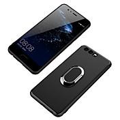 Funda Para Huawei Soporte para Anillo Funda Trasera Color sólido Suave TPU para P10 Plus P10 Lite P10 Huawei