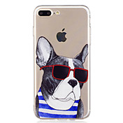 Funda Para Apple iPhone X iPhone 8 Diseños Funda Trasera Perro Caricatura Suave TPU para iPhone X iPhone 8 Plus iPhone 8 iPhone 7 Plus