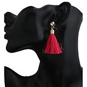 Mujer Borla Cierre del pendiente / Pendientes colgantes / Pendients de aro - Colgante / Borla / Moda Verde / Azul / Rosa Caramelo Forma