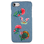 애플 아이폰 7 플러스 / 7 커버 패턴 다시 커버 케이스에 대 한 경우 나비 꽃 하드 pc 아이폰 6s 플러스 / 6plus / 6s / 6