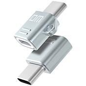 USB 2.0 Tipo C Adaptador de cable USB Portátil OTG Adaptador Para Samsung Huawei Xiaomi 1.86 cm CLORURO DE POLIVINILO