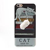 Para Carcasa Funda Diseños Manualidades Blando Cubierta Trasera Funda Gato Caricatura Suave TPU para AppleiPhone 7 Plus iPhone 7 iPhone 6