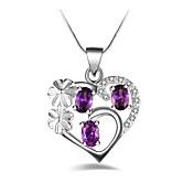 Mujer Collares con colgantes La imitación de diamante Forma de Corazón Legierung Moda Personalizado Clásico Joyas Para Fiesta Cumpleaños
