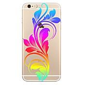 Caso para el iphone 7 7 más la contraportada suave del tpu del patrón de flor para el iphone 6 más 6s más el iphone 5 se 5s 5c 4s
