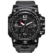 SMAEL Hombre Cuarzo Digital Reloj digital Reloj de Pulsera Reloj elegante Reloj Militar Reloj Deportivo Chino Despertador Calendario