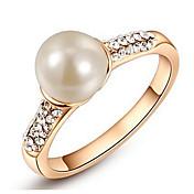 Mujer Lujo Cristal / Perla artificial Cristal / Perla Artificial / Legierung infinito Anillo de banda - Redondo / infinito Personalizado