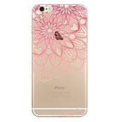 Funda Para Apple iPhone 7 Plus iPhone 7 Transparente Diseños Funda Trasera Flor Suave TPU para iPhone 7 Plus iPhone 7 iPhone 6s Plus