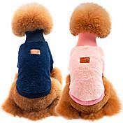 Gato Perro Sudadera Ropa para Perro Un Color Verde Azul Rosa Caqui Tejido Disfraz Para mascotas Casual/Diario Mantiene abrigado Deportes