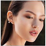 Mujer Zirconia Cúbica Pendientes con clip - Zirconio, Plateado Bohemio, Moda, Estilo lindo Plata Para Boda Regalo Diario