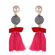 Mujer Borla Pendientes colgantes - Perla rosa Azul Claro / Rosa claro / Piel Para Cumpleaños Graduación Regalo