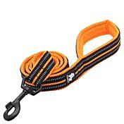 강아지 가죽끈 안티 슬립 반사 통기성 안전 솔리드 나일론 블랙 오렌지 옐로우 퓨샤 블루