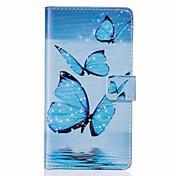 Funda Para Apple iPhone 7 Plus iPhone 7 Soporte de Coche Cartera con Soporte Flip Diseños Funda de Cuerpo Entero Mariposa Dura Cuero de PU