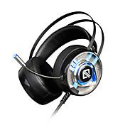 AJAZZ AX360 Cinta Con Cable Auriculares Dinámica Acero inoxidable / El plastico De Videojuegos Auricular Con control de volumen / Con
