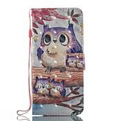 케이스 커버에 대 한 카드 홀더 지갑 스탠드 플립 자기 패턴 전신 케이스 삼성 갤럭시 s8 플러스 s8 s7 가장자리 s7에 대 한 올빼미 하드 tpu