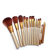 12pcs Profesjonell Makeup børster Børstesett Syntetisk hår leppestift / Øyenbryn / Øyenskygge