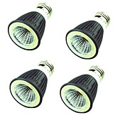 4 Stk. 7W 550 lm LED-spotpærer MR16 1 leds COB Dekorativ Varm hvit Kjølig hvit AC220