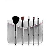 1 juego Profesional Pinceles de maquillaje Sistemas de cepillo Caballo / Pelo Sintético / Pincel de Pelo de Cabra Fácil de Transportar /
