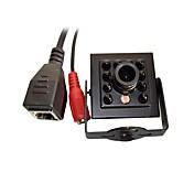 720 p 1.0mp onvif cctv cámara ip hi3518e ir visión nocturna 1/4 h62 cmos mini 940nm 10pcs leds
