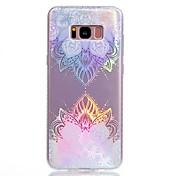 Funda Para Samsung Galaxy S8 Plus S8 Cromado IMD Diseños Cubierta Trasera Mandala Suave TPU para S8 S8 Plus S7 edge S7