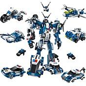 로봇 조립식 블럭 비행기 파이터 장난감 로봇 밀리터리 DIY 클래식 뉴 디자인 어른' 남아 577 조각