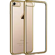 Funda Para iPhone 7 Plus iPhone 7 Apple iPhone 8 iPhone 8 Plus Cromado Transparente Funda Trasera Transparente Suave TPU para iPhone 8