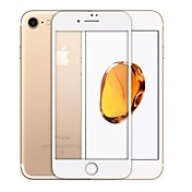 Vidrio Templado Protector de pantalla para Apple iPhone 8 Protector de Pantalla, Integral Dureza 9H Borde Curvado 2.5D A prueba de