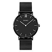 SKMEI Hombre Reloj de Pulsera Reloj de Vestir Reloj de Moda Japonés Cuarzo Resistente al Agua Acero Inoxidable Banda Lujo Minimalista Cool