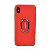 Etui Til Apple iPhone X iPhone 8 Støtsikker Ringholder Bakdeksel Helfarge Myk TPU til iPhone X iPhone 8 Plus iPhone 8 iPhone 7 Plus