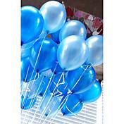 20 PC / globo de los globos de aire fijados globo circular inflable del color sólido de 10 pulgadas