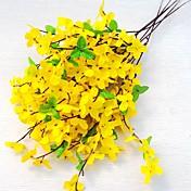 5 Rama Seda Pétalos Orquídea Flor de Mesa Flores Artificiales