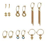 여성용 드랍 귀걸이 링 귀걸이 패션 개인 라인석 합금 보석류 제품 거리