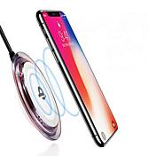cargador inalámbrico qi antideslizante para iphone x iphone 8 Samsung nota 8 s9 plus s8 plus s7 u otro teléfono inteligente receptor qi incorporado