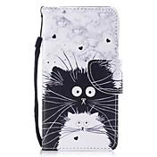 Etui Til Samsung Galaxy S8 Plus S8 Kortholder Lommebok med stativ Flipp Mønster Heldekkende etui Katt Hard PU Leather til S8 Plus S8 S7