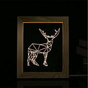 3 차원 분위기 밤 빛의 세트는 LED가 조명의 USB 침실 사진 프레임 램프 선물 양