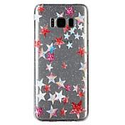Funda Para Samsung Galaxy S8 S7 Traslúcido Diseños En Relieve Barniz Funda Trasera Brillante Caricatura Suave TPU para S8 S7 S6