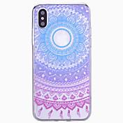 Etui Til Apple iPhone X iPhone 8 iPhone 6 iPhone 6 Plus iPhone 7 Plus iPhone 7 Mønster Bakdeksel Mandala Hard PC til iPhone X iPhone 8