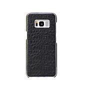 Funda Para Samsung Galaxy S8 Plus S8 Cromado Funda Trasera Color sólido Dura piel genuina para S8 Plus S8