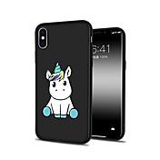 Funda Para Apple iPhone X iPhone 8 Plus Diseños Cubierta Trasera Unicornio Animal Caricatura Suave TPU para iPhone X iPhone 8 Plus iPhone