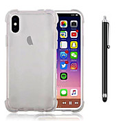 Funda Para Apple iPhone X iPhone 8 Plus Antigolpes Transparente Cubierta Trasera Color sólido Suave TPU para iPhone X iPhone 8 Plus