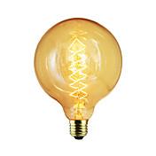 1pc 60W E27 E26/E27 E26 G125 K Glødende Vintage Edison lyspære AC 220-240V V