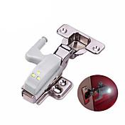 Universal 0.3w bisagra interior llevó el sensor de la luz de la noche del gabinete armario armario puerta interruptor automático bombilla