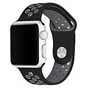 시계 밴드 Apple Watch Series 3 / 2 / 1 Apple Watch Series 3 용 Apple 스포츠 밴드 실리콘 손목 스트랩