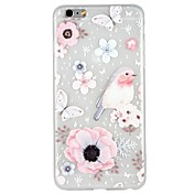 Funda Para Apple iPhone 8 / iPhone 8 Plus / iPhone 7 En Relieve / Diseños Funda Trasera Mariposa / Animal / Flor Suave TPU para iPhone 8 Plus / iPhone 8 / iPhone 7 Plus